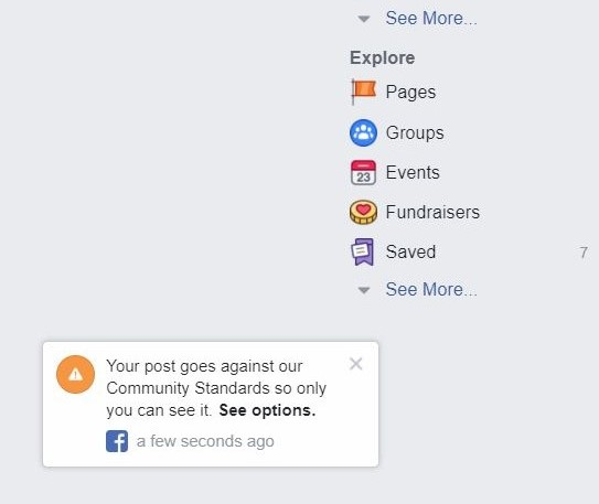 blog diblokir facebook