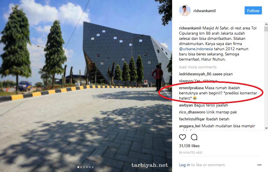 Ernest provokasi netizen hina masjid