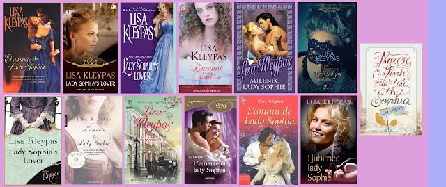 portadas de la novela romántica histórica El amante de Lady Sofía, de Lisa Kleypas