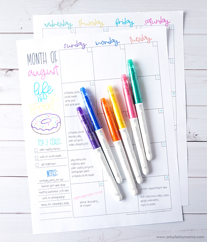 Free Printable Hand Lettering Planner Pages artsy-fartsy mama - weekly planner pages