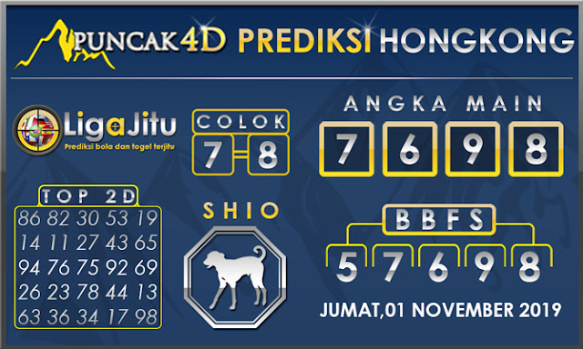 PREDIKSI TOGEL HONGKONG PUNCAK4D 01 NOVEMBER 2019
