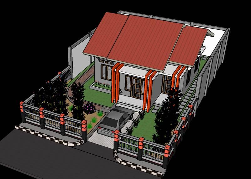 Gambar rumah bagian atap modern