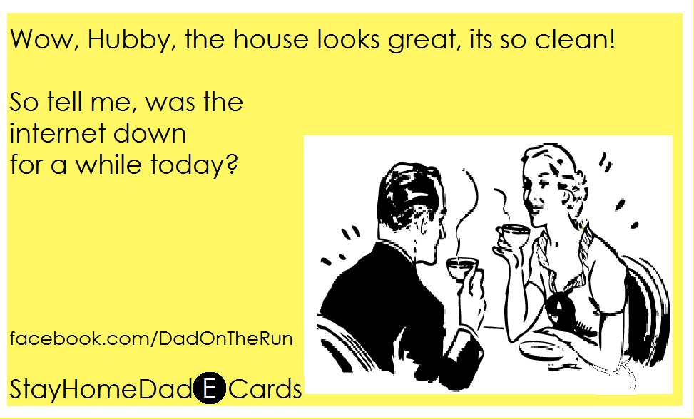 Dad On The Run: Stay Home Dad -E- Cards