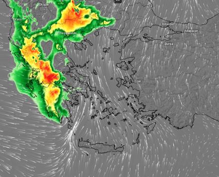 Meteo24News.gr: Καταιγίδες, ισχυρές βροχοπτώσεις και χιόνια στα ορεινά αύριο Πέμπτη