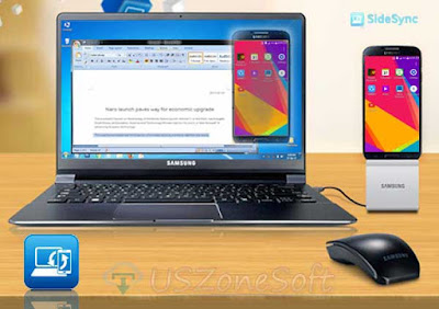 Samsung SideSync free download, phone screen, Keyboard, Mouse sharing app download, PC to Smasung phone connecting program