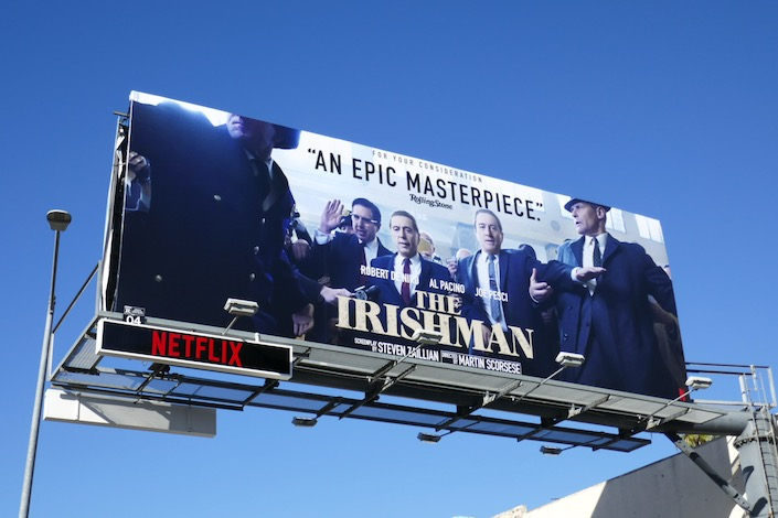 Irishman movie For consideration billboard