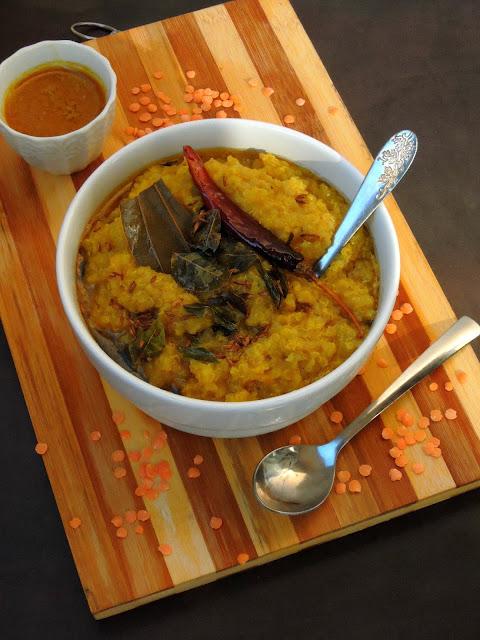 Gluten free Masoordal Khichdi