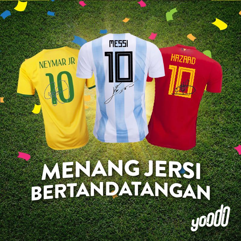 Menangi Jersi Autograf Bintang Bola Sepak Dunia Dari Yoodo !