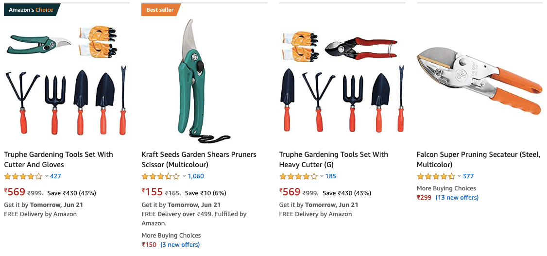 Best Gardening Tools for India