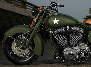 the soldier sportster military by studiomotor front left