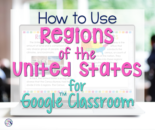 Digital Regions of the United States is perfect for distance learning!