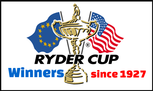 Ryder cup, golf, past, champions, results, winners, runners-up, venues,  list, by year,