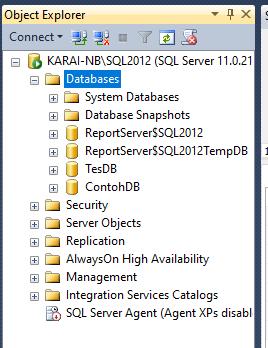 Membuat Database SQL Server