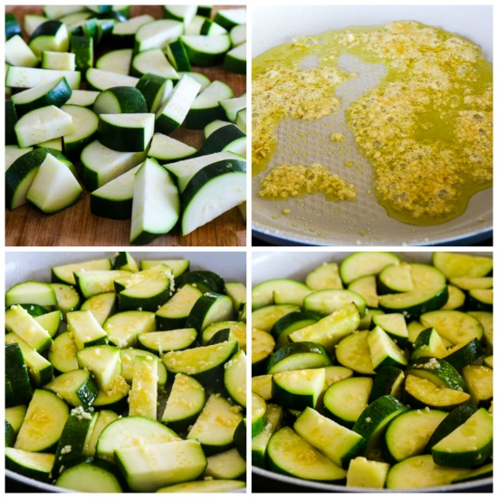 Low-Carb Cheesy Zucchini with Garlic and Parsley found on KalynsKitchen.com