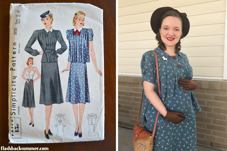 1930s Vintage Maternity fashion style
