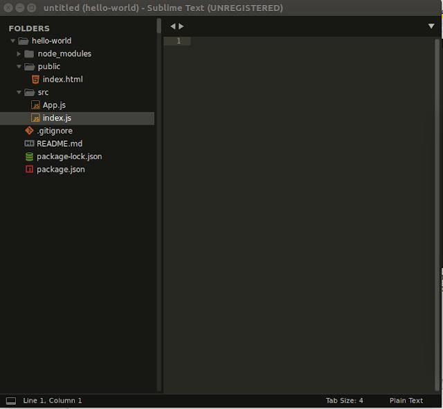 Tampilan Folder reactjs yang sudah di edit