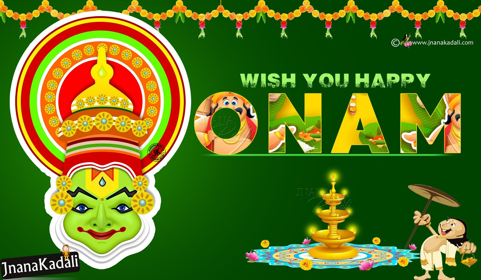 Advanced Onam Greetings With Hd Wallpapers In English Happy Onam