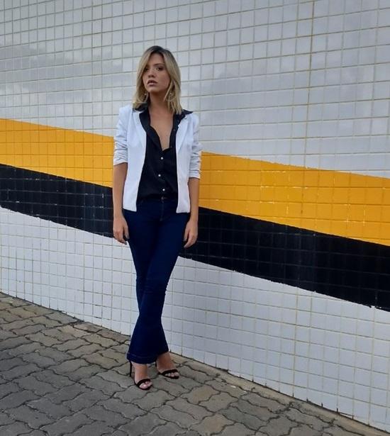 Looks da Semana - Preto, branco e jeans!