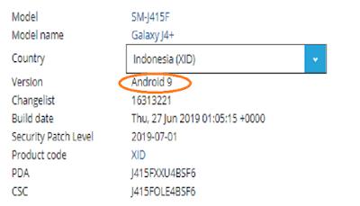 Gambar Firmware Android J4+