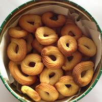 Biscoitos simples de limão