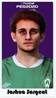 PES 2021 Faces Josh Sargent by Shaft