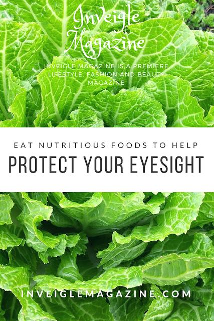 Nutritious foods, eyesight