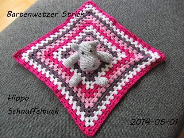 Bartenwetzer Strick Hippo Schnuffeltuch
