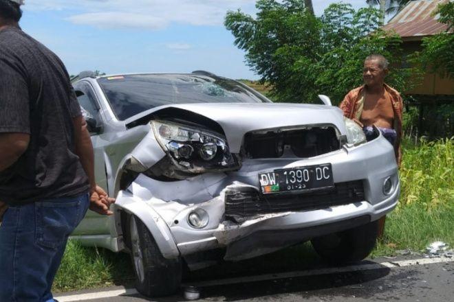 Hindari Sapi, 2 Mobil di Salomekko Bone Tabrakan
