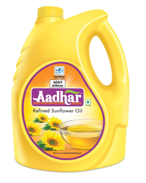 Aadhar Refined Sunflower Oil, 5L