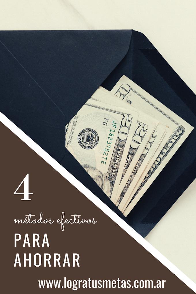 4 Métodos efectivos para ahorrar