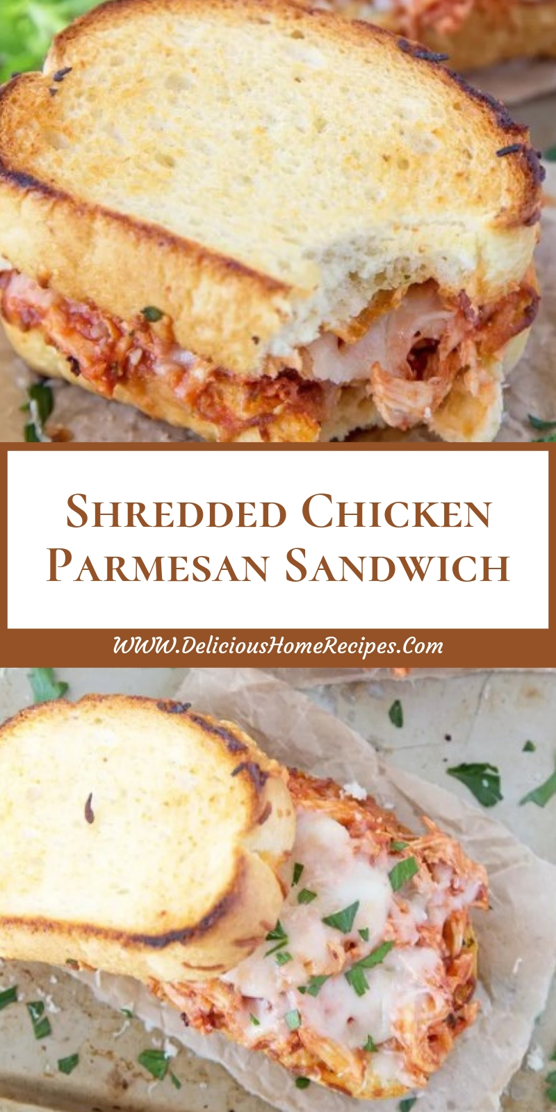 Shredded Chicken Parmesan Sandwich