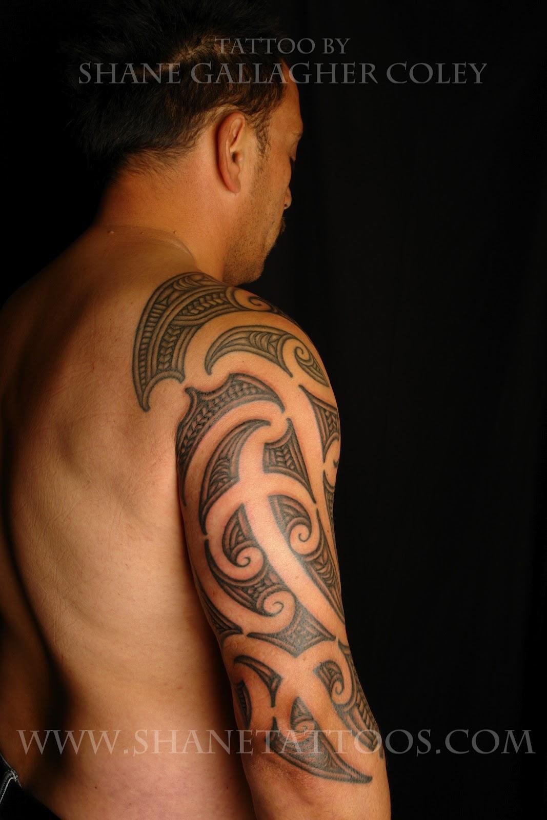 Maori Moko Tattoos: MAORI POLYNESIAN TATTOO: Maori Sleeve Tattoo/Ta Moko