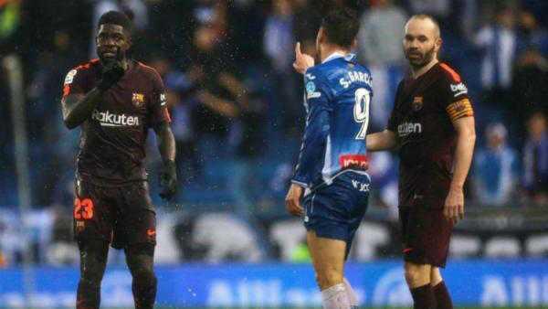 Kasian! Umtiti Jadi Korban Rasis di Laga Lawan Espanyol