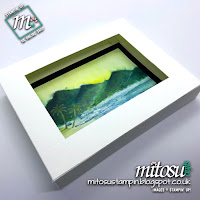 Stampin' Up! Watefront Brusho SU Fold Flat Shadow Box Frame order craft supplies from Mitosu Crafts UK Online Shop