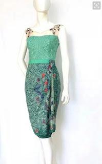 Model baju batik pesta dress pendek