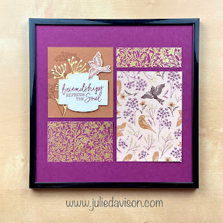 Stampin' Up! Fall Framed Samplers Featuring Beauty of the Earth and Blackberry Beauty Designer Papers ~ www.juliedavison.com