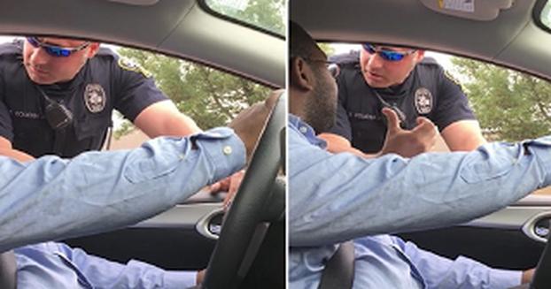 Άνδρας οδηγούσε μαζί με τη γυναίκα του όταν η αστυνομία του έκανε νόημα να σταματήσει. Όταν έμαθε το λόγο του κόπηκαν τα πόδια απο την χαρα