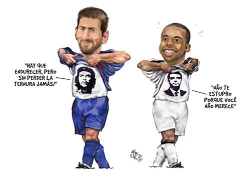 www.seuguara.com.br/Messi/Robinho/charge/Aroeira/