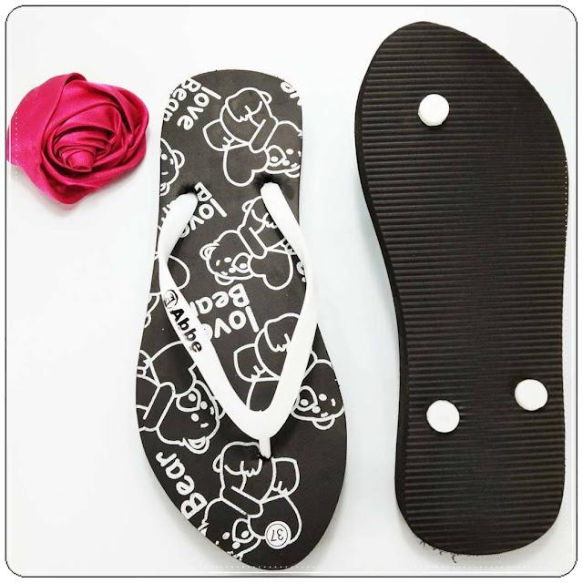 Sandal Jepit Love Bear Spon Cewe 5