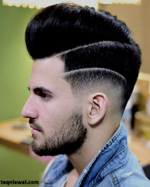 خط جراحي - تسريجة الشعر جذابة للرجال