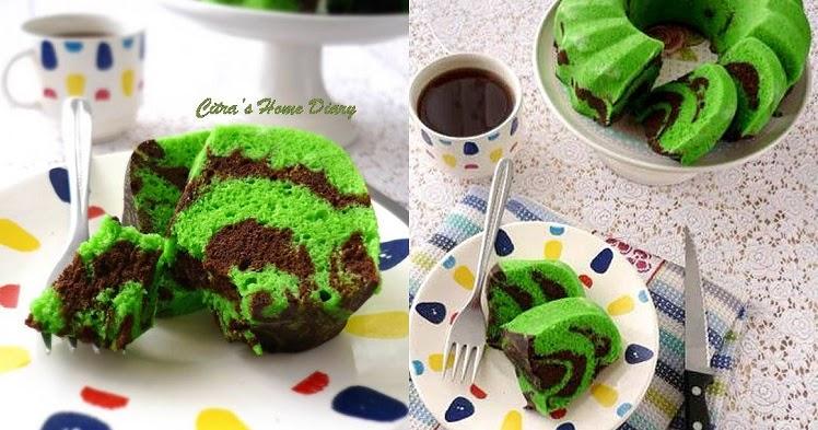 Citra S Home Diary Steamed Pandan Chocolate Marble Cake From Egg White Bolu Kukus Pandan Dari Putih Telur