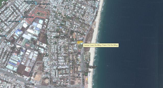 Vị trí chính xác dự án Central Coast Đà Nẵng theo bản đỏ Google