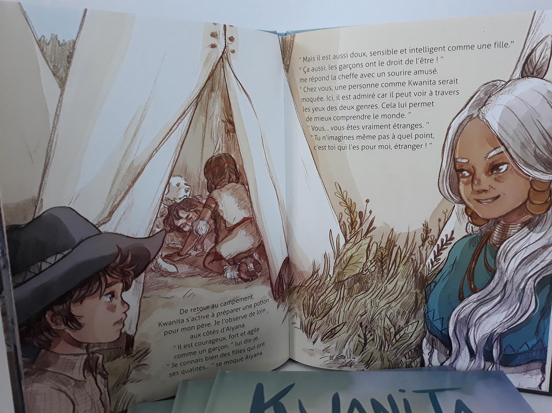 Kwanita. La larme du bison, de Pog et Marianne Alexandre - Voir les 5 photos (sur le blog)