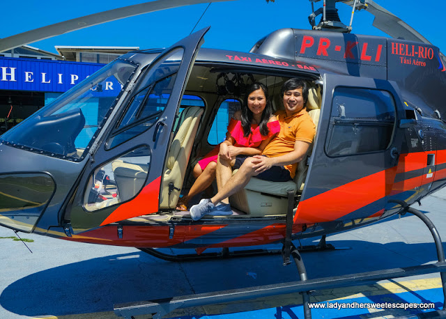 Ed and Lady helicopter ride in Rio