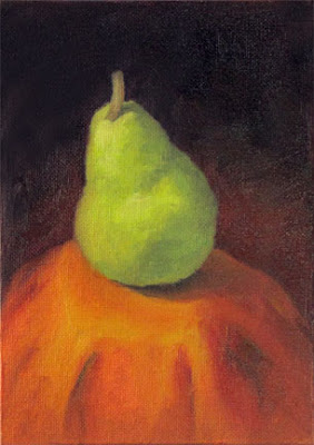 G Sivitz, oil painting, pear