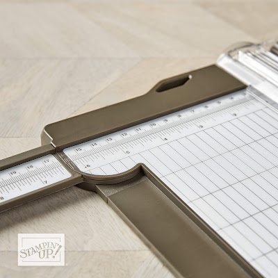 New Stampin' Up! Paper Trimmer available November 1 - features and benefits - measurements all the way across - no gaps!