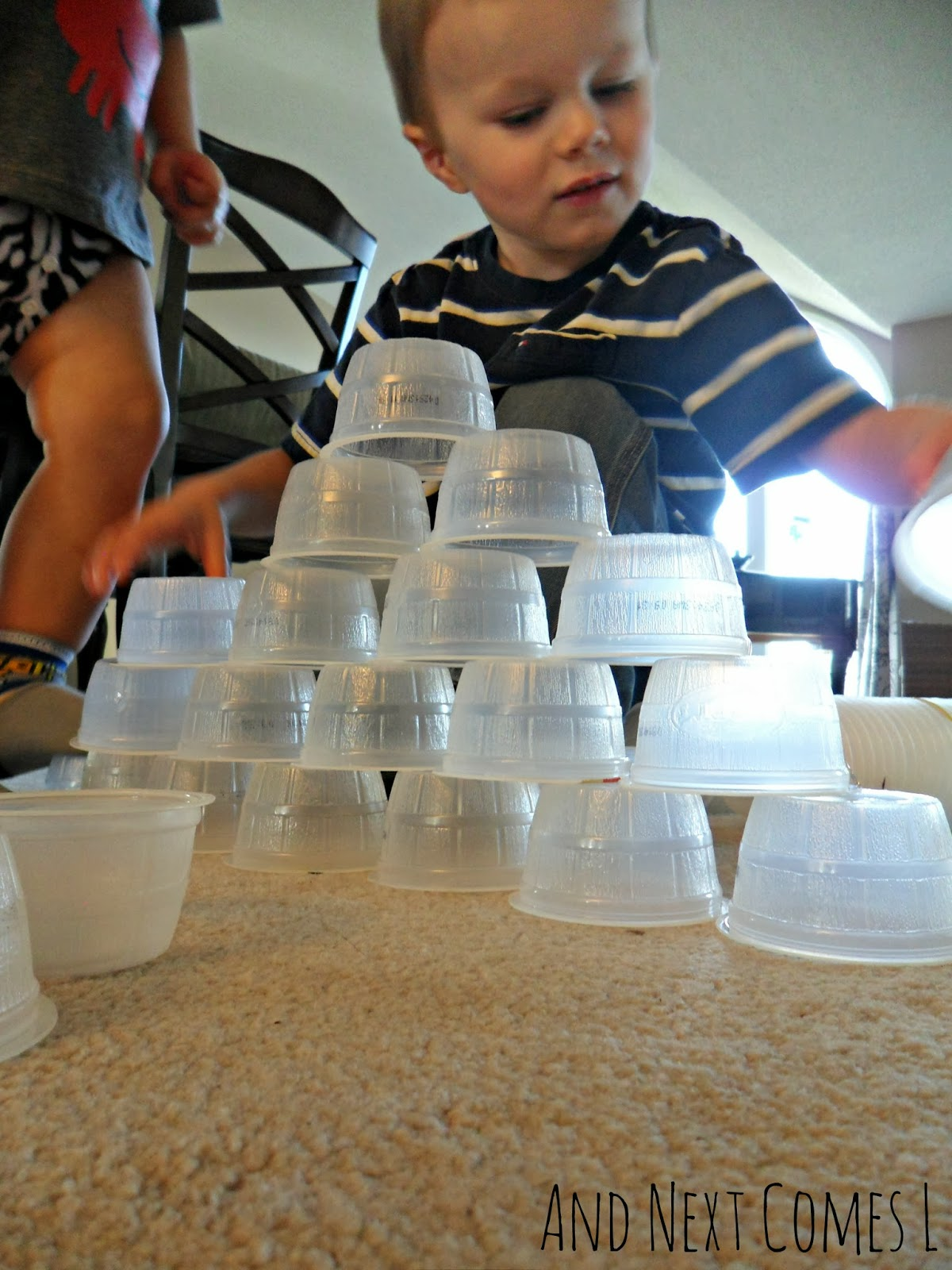 Building with plastic cups from And Next Comes L