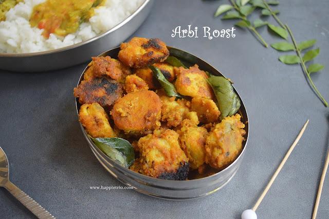 Arbi Roast Recipe | Seppankizhangu Varuval Recipe | Colocasia Roast