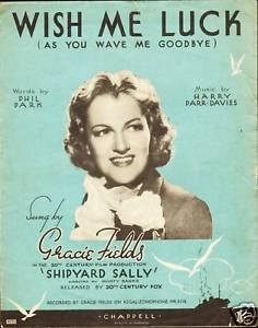 The movie poster for the 1939 Gracie Fields film Shipyard Sally