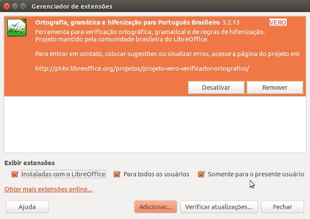 Corretor ortográfico para o LibreOffice